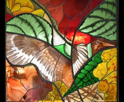Glas in lood en brandschilderen