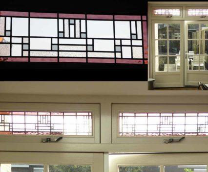 Glasatelier Anja. En suite deuren. Glas in lood.